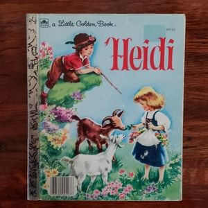 Vintage Heidi Childrens Little Golden Book 1954